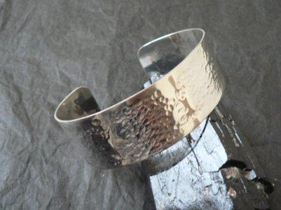 Bracelet argent martelé