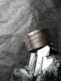 Anneau large argent cuivre