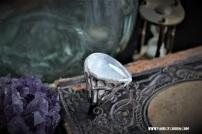 """Bague """"Sorcellerie"""" en argent et pierre de lune"""